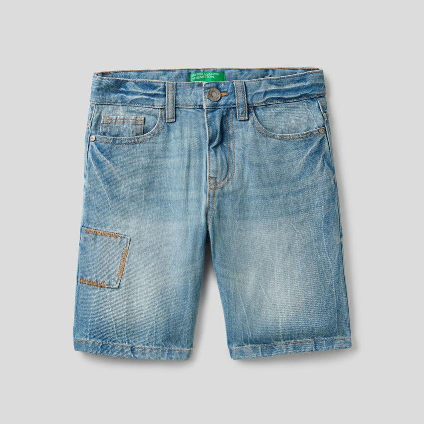 Bermuda en jeans 100% coton
