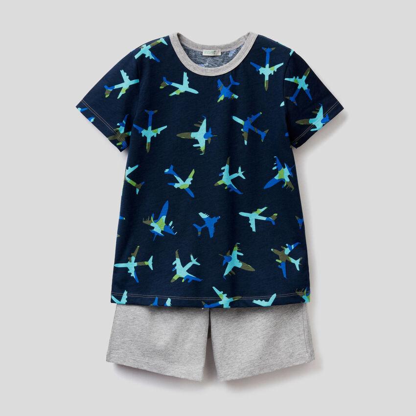 Pyjama t-shirt et bermuda