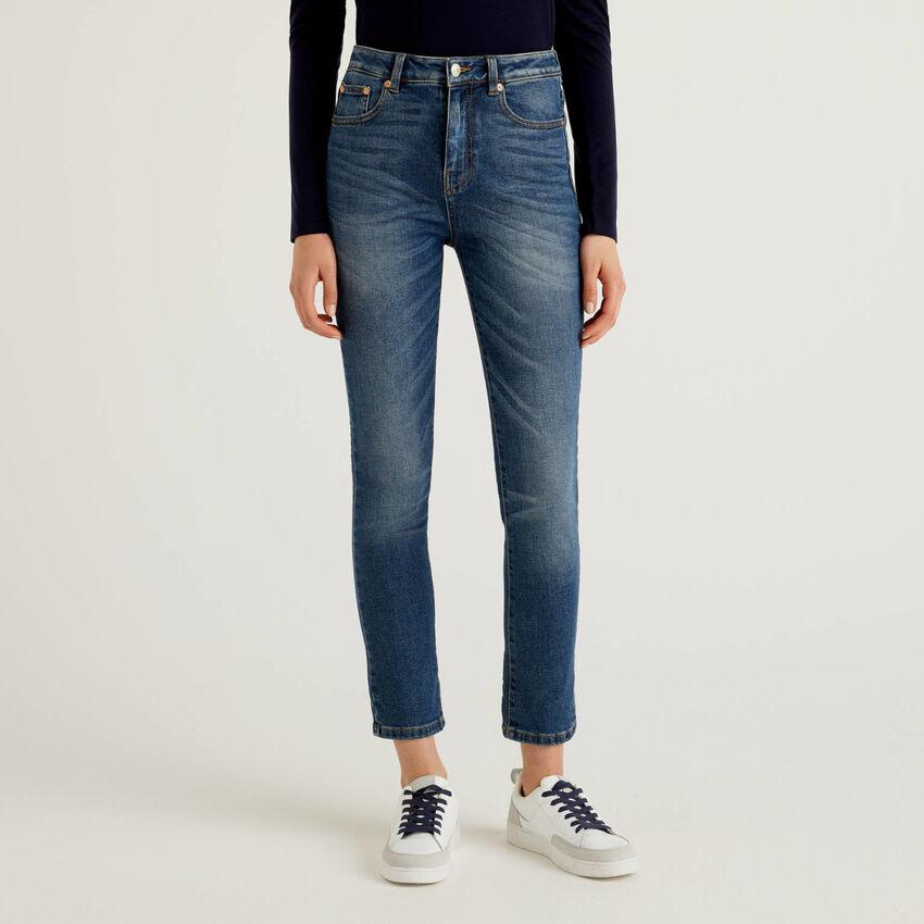 Jeans skinny en denim de coton stretch