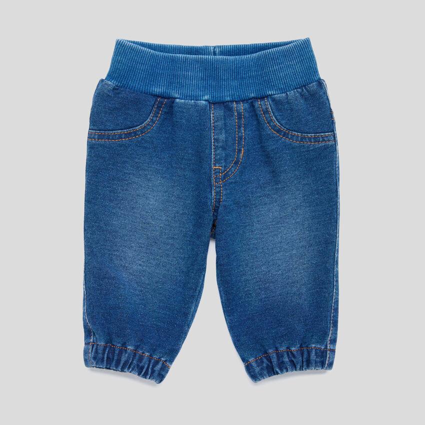 Pantalon stretch effet denim