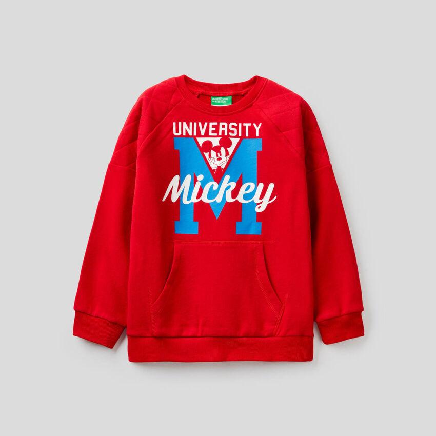 Sweat Mickey à détail matelassé