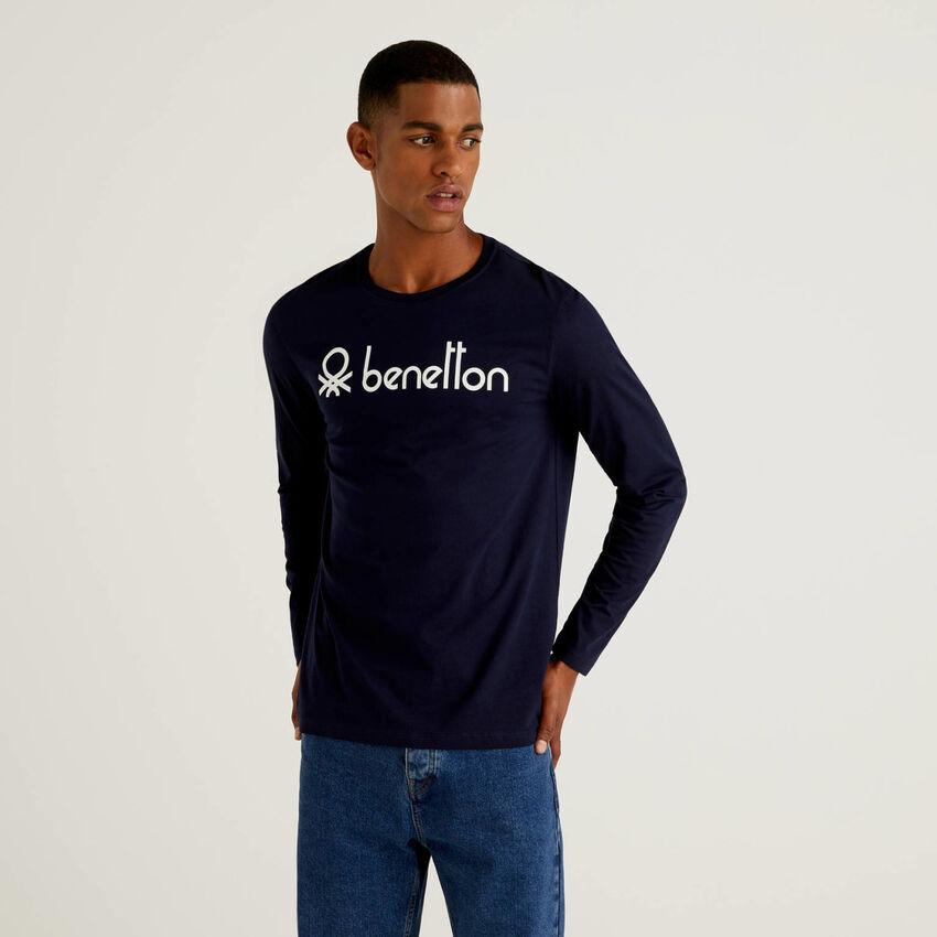 T-shirt manches longues avec logo imprimé