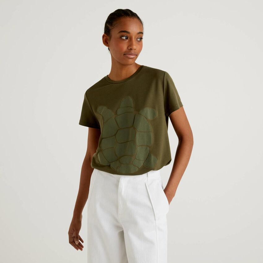 T-shirt avec imprimé tortue