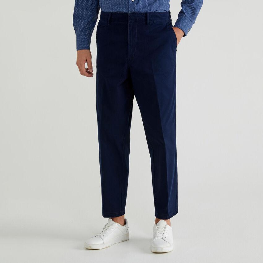Chino en coton stretch