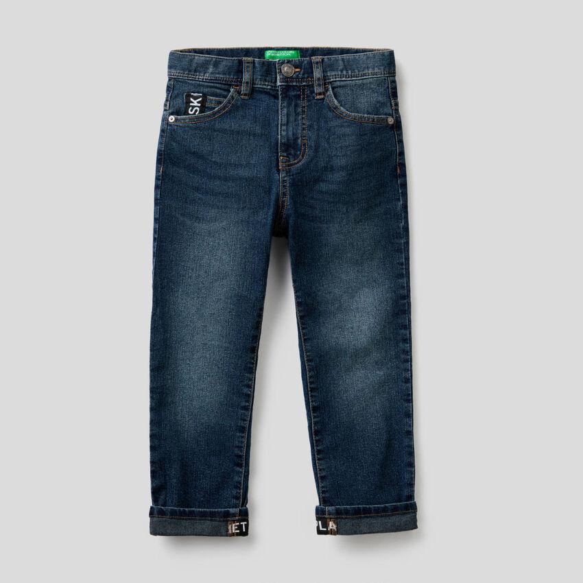 Jeans cinq poches straight leg