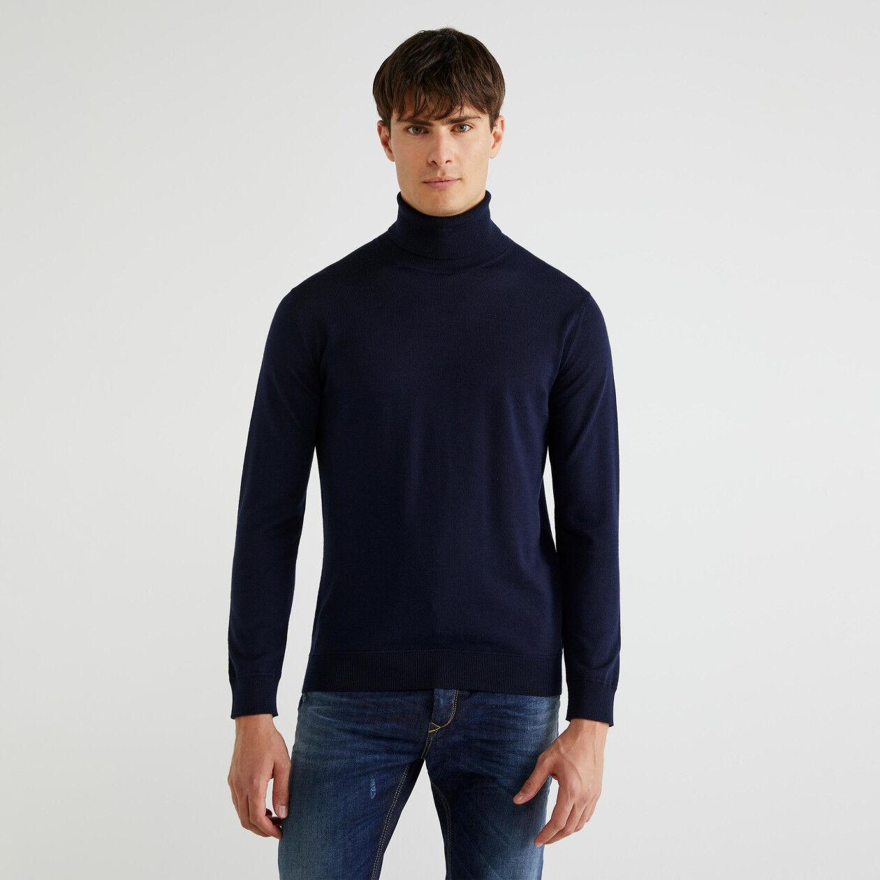 Pull col roulé en pure laine Mérinos Extra Fine