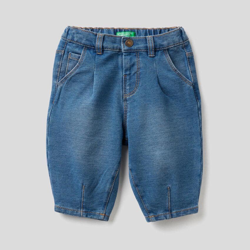 Pantalon slouchy effet denim