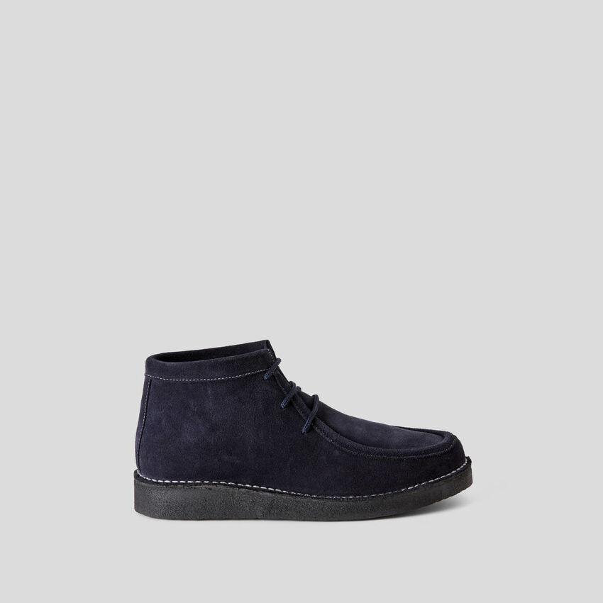 Chaussures à lacets en cuir suédé