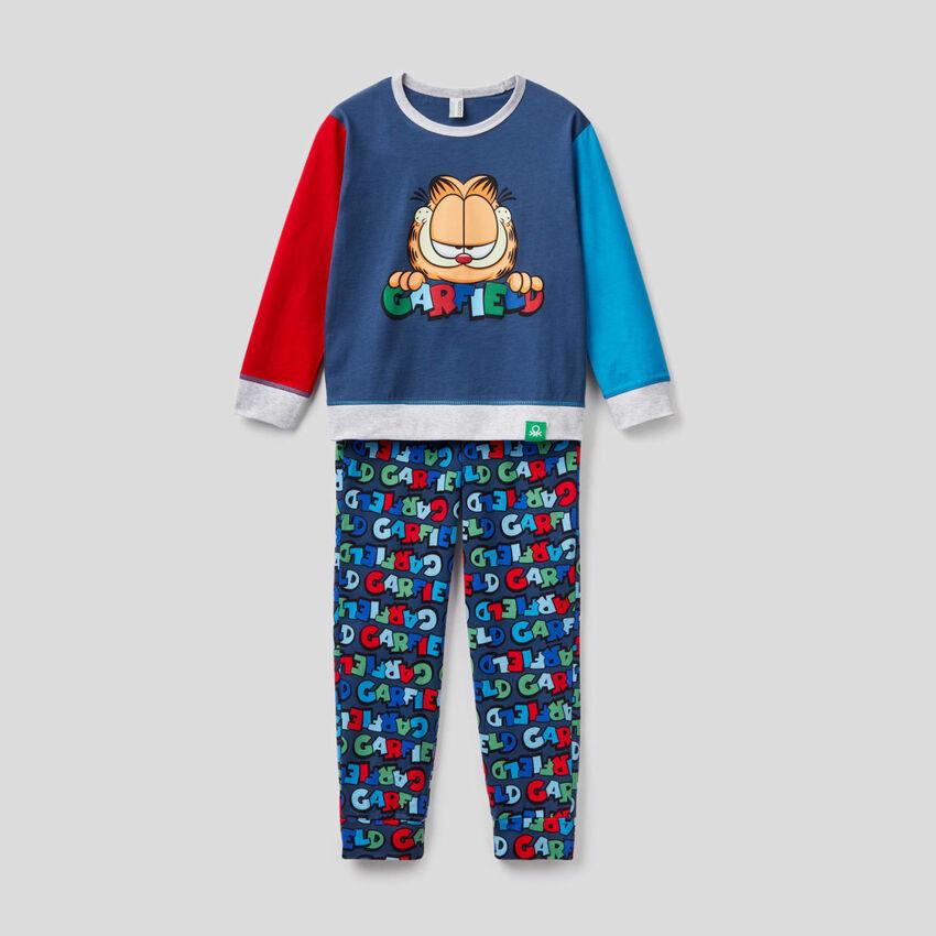 Pyjama color block avec imprimé Garfield