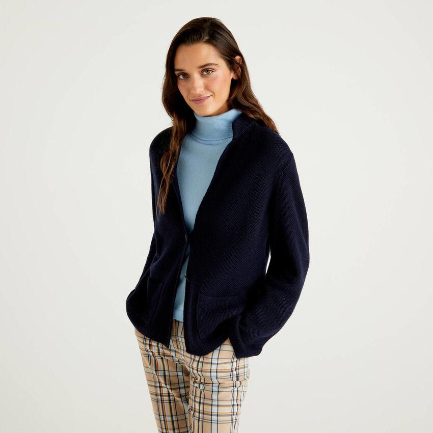 Veste en maille de laine et cachemire mélangés