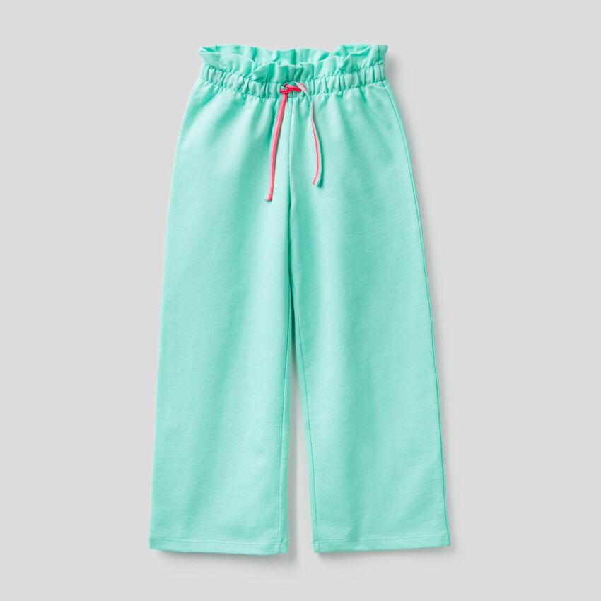Pantalon à coupe ample en molleton léger