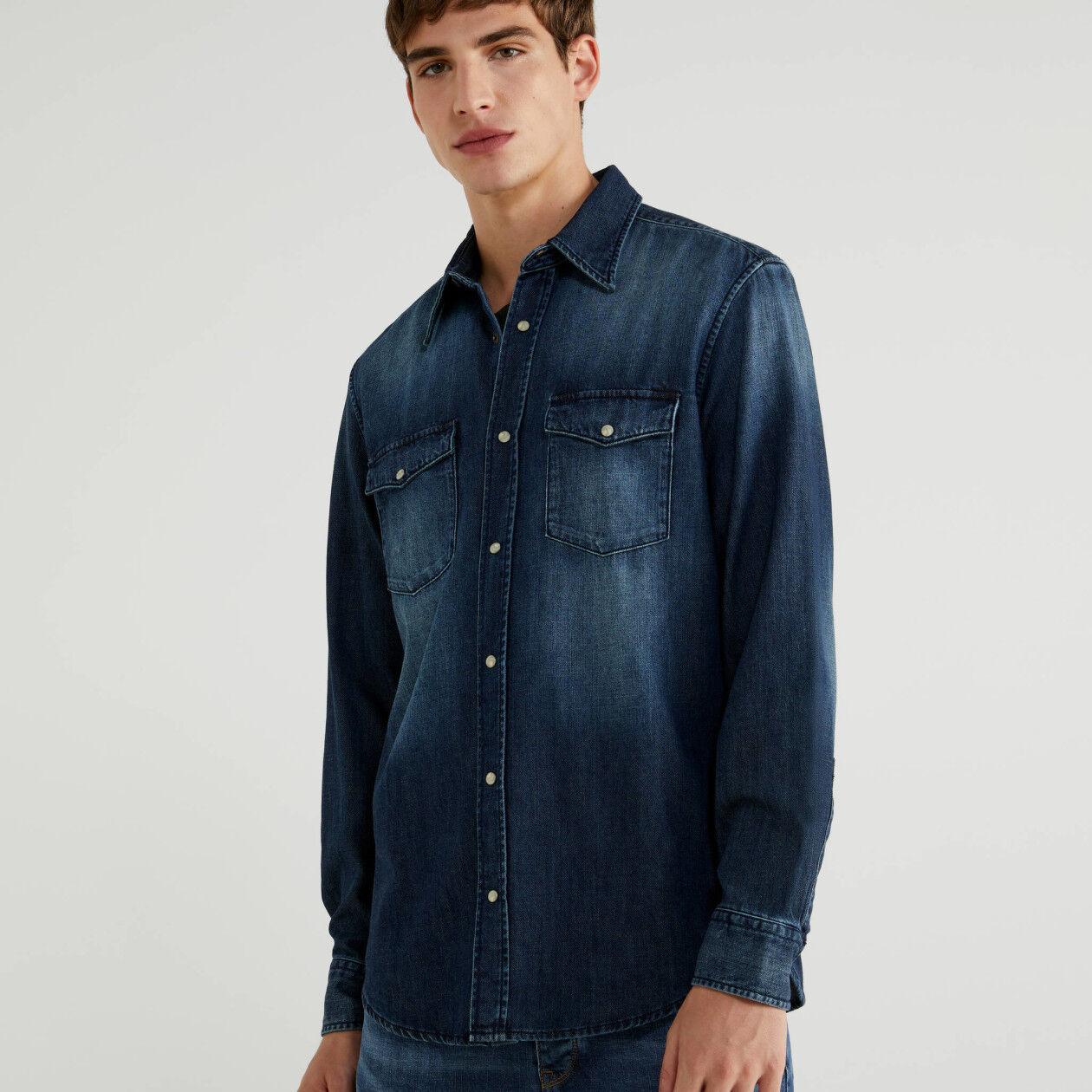 Chemise en jeans coupe regular
