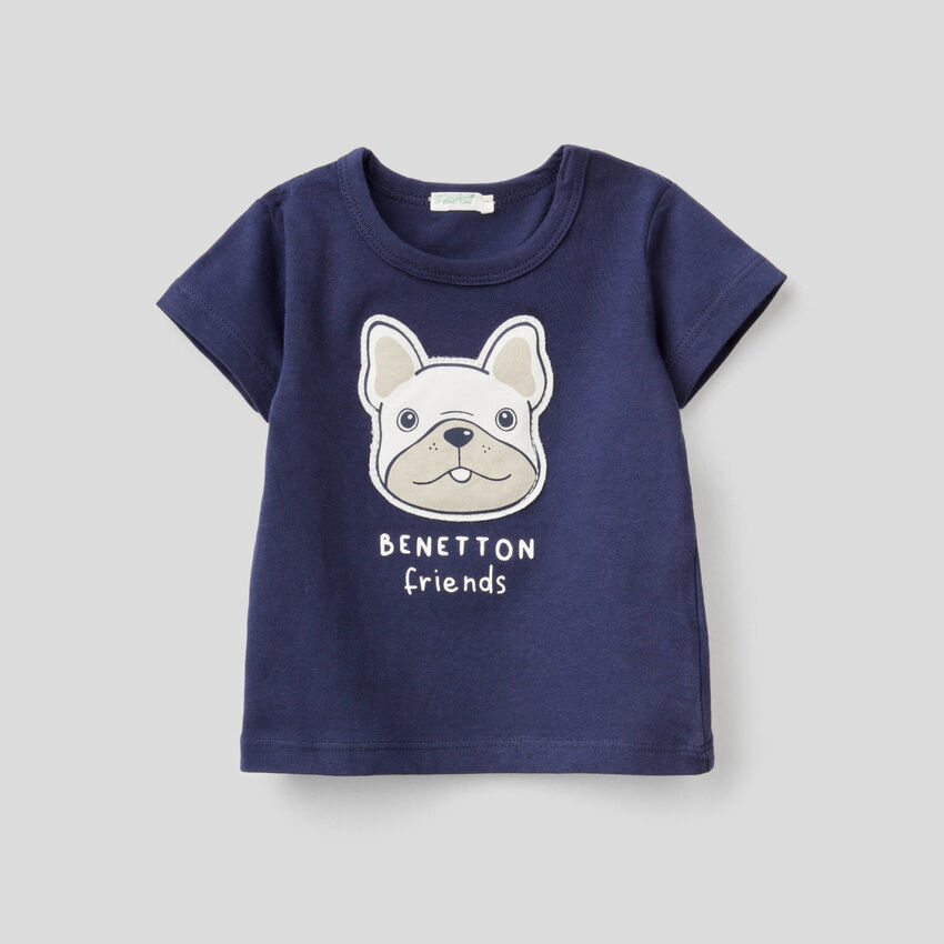T-shirt avec patch et imprimé