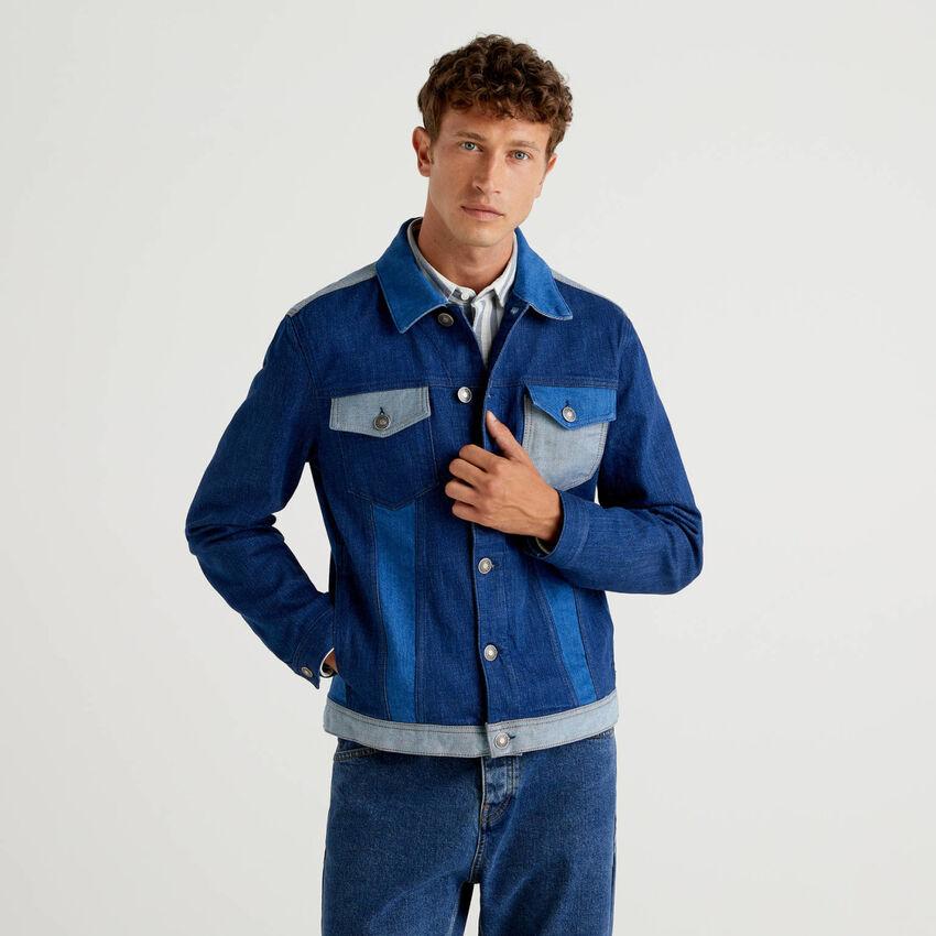 Blouson en jeans patchwork