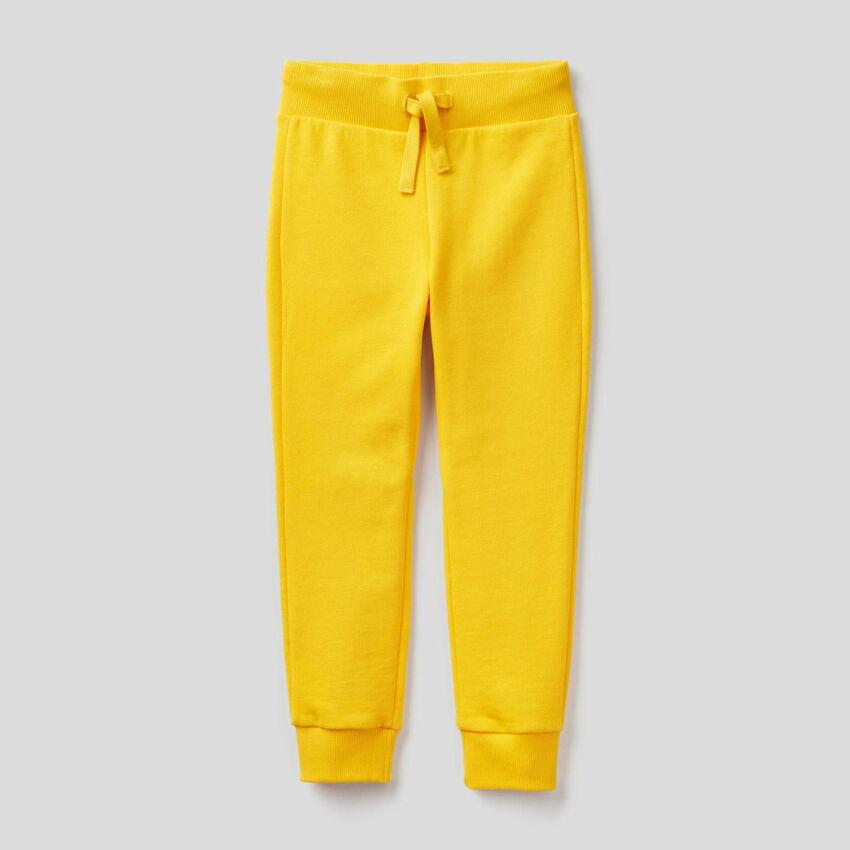 Jogging jaune en molleton