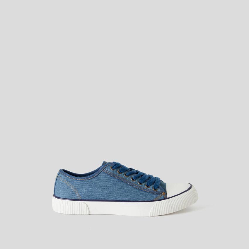 Sneakers en pur coton