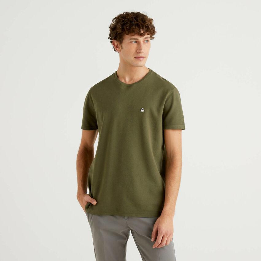 T-shirt in 100% cotone piquet