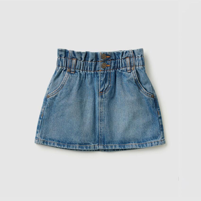 Jupe courte en jeans