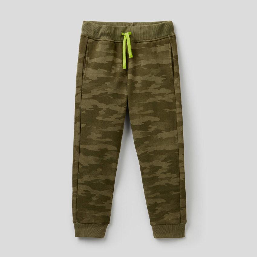 Pantalon en molleton camouflage