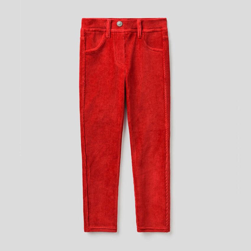 Pantalon super skinny en velours