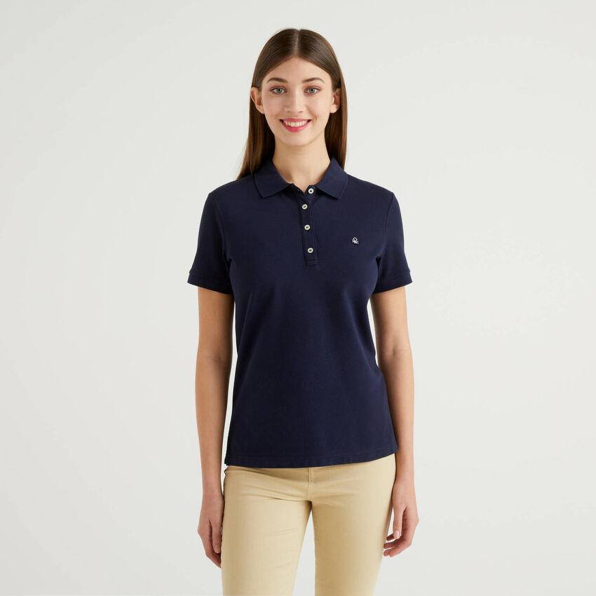 Polo en coton stretch