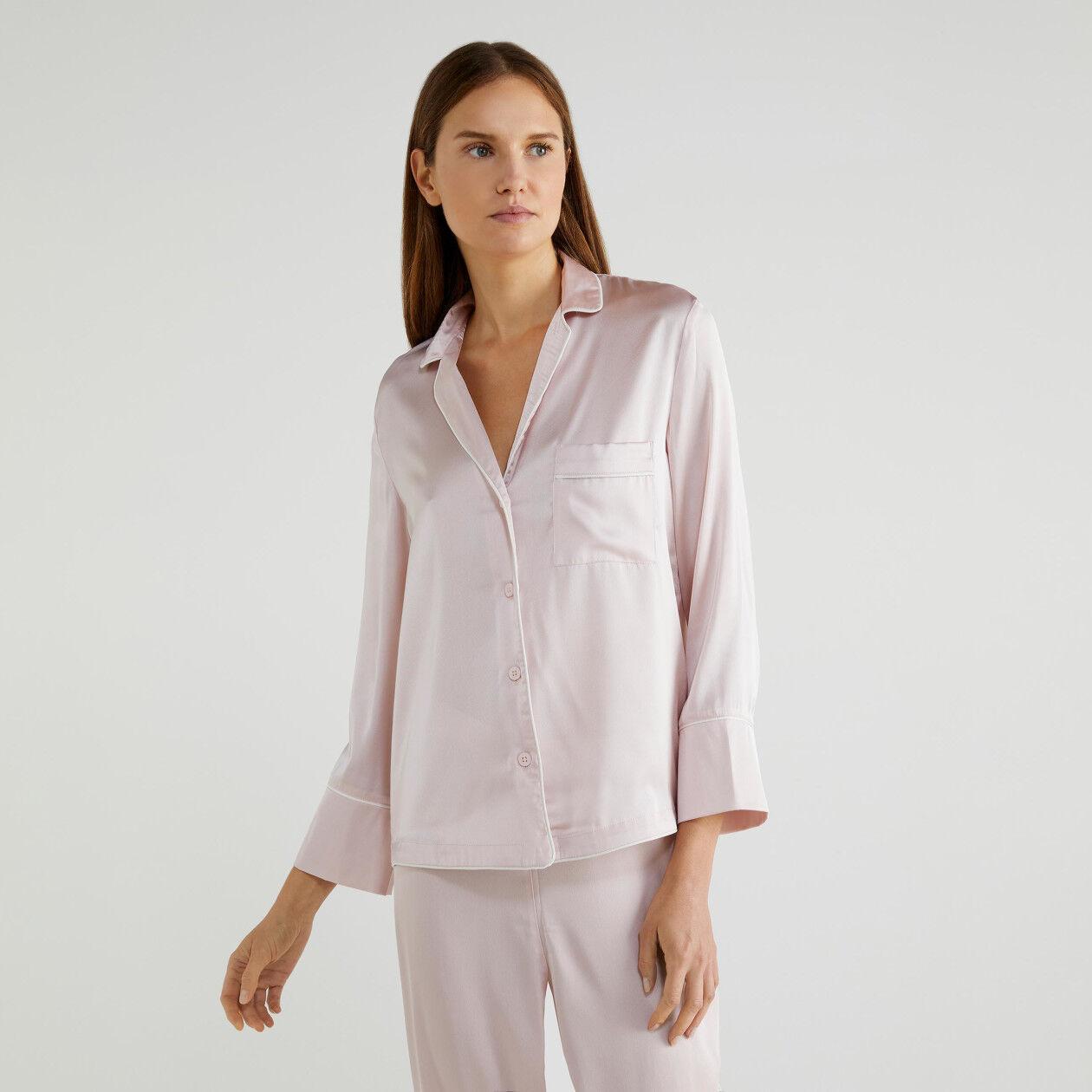 Haut de pyjama en satin