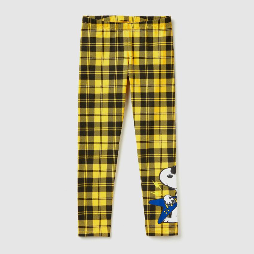 """Legging à carreaux avec imprimé """"Snoopy"""""""