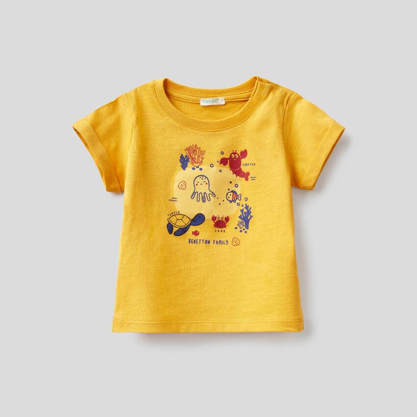 T-shirt jaune en coton bio