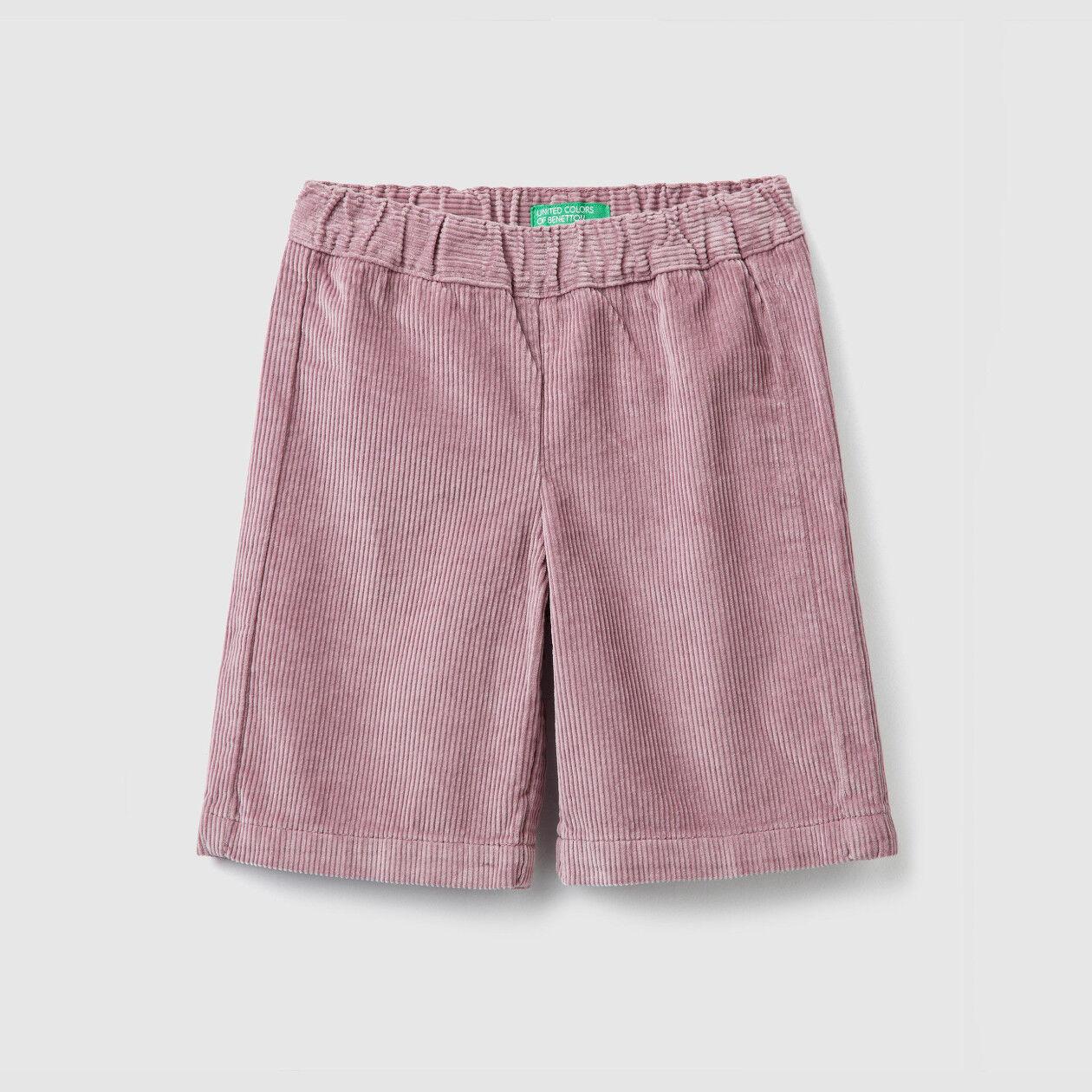 Pantalon cropped en velours