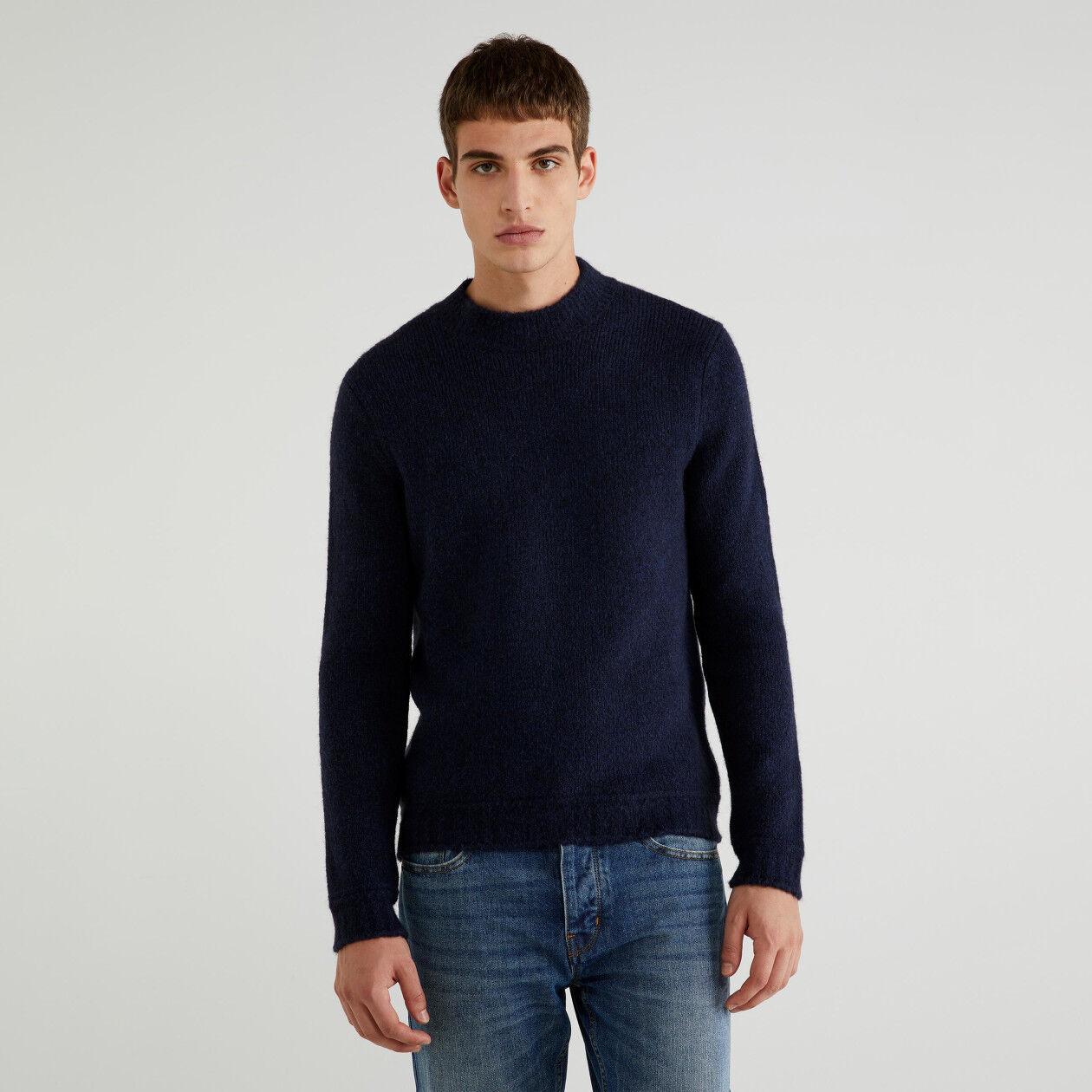 Pull en coton et laine