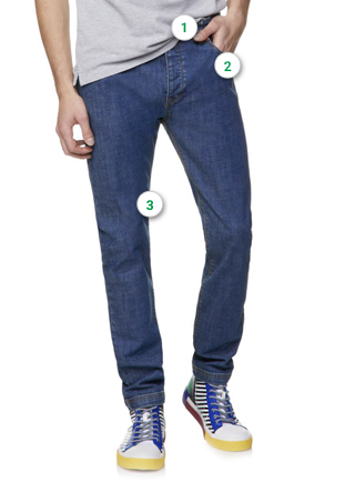 717bb23823eb Jeans. Previous. Taille italienne
