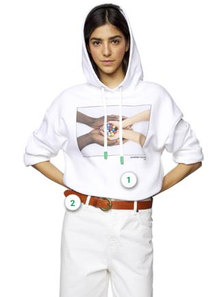 Dress, Robe Femme, Blanc (White 101), MediumBenetton